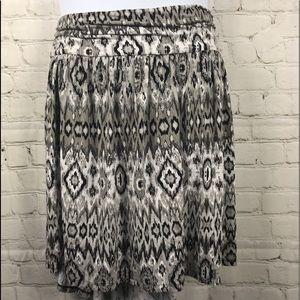 2/$22 Lane Bryant Aztec Print Knit Skirt